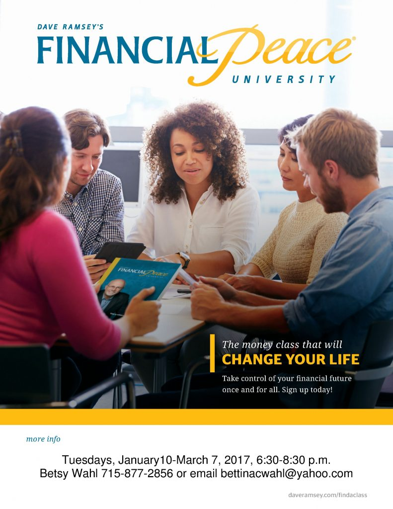 Financial Peace University Flyer Winter 2016