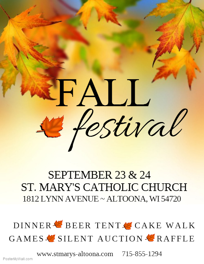 Join us for our 2017 Fall Festival!
