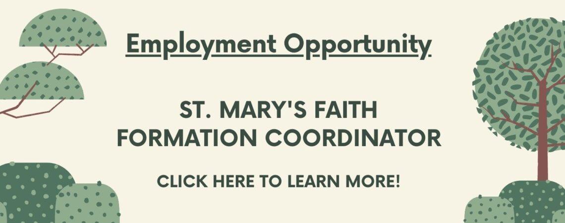 Faith Formation Coordinator